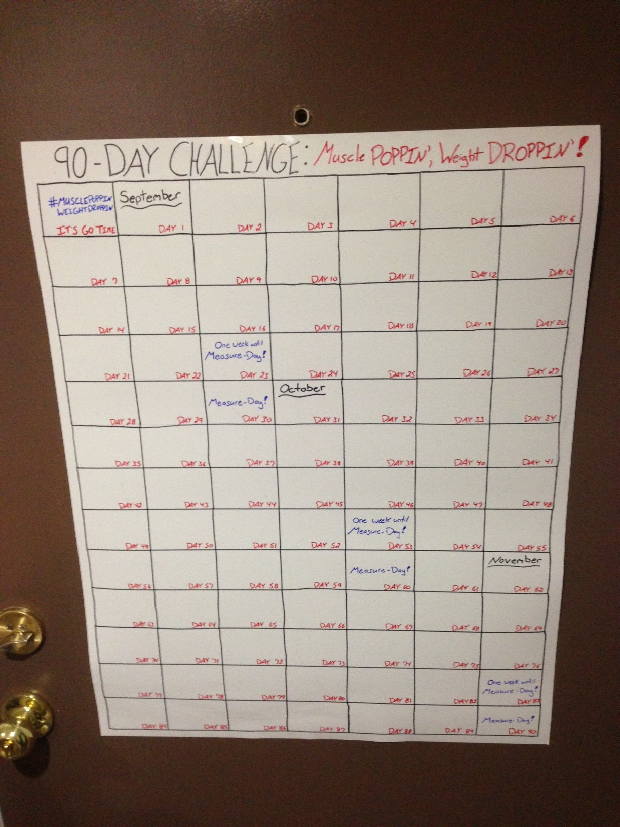 90 day calendar printable